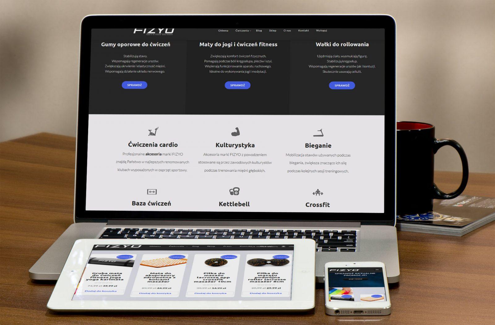 Projekt strony internetowej i sklepu